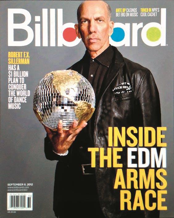 Robert Sillerman op de cover van Billboard Magazine, in 2012.