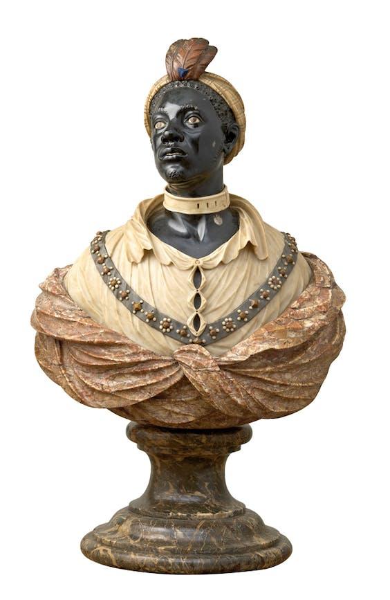 Borstbeeld van een Afrikaanse man, John Nost II, ca. 1700.