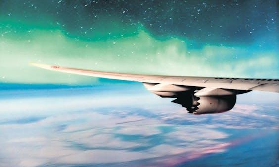 Vleugel van Wright Electric uit Los Angeles, dat met EasyJet werkt aan e-planes voor zo'n 150 passagiers..