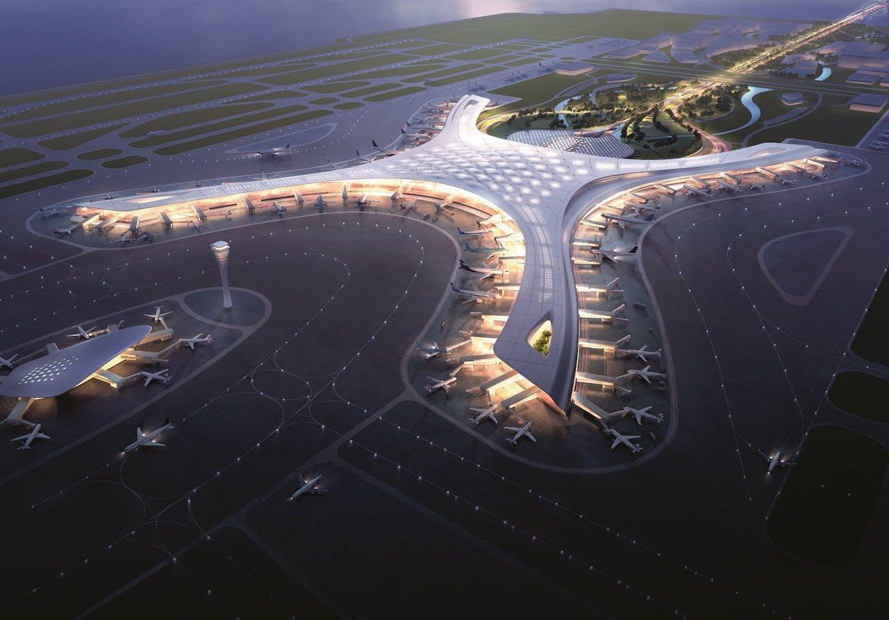 Ministeden met bioscopen, zwembaden, kinderdagverblijven en vooral veel licht en groen: luchthavens als Changi Airport in Singapore werken aan de luchthaven van de toekomst.