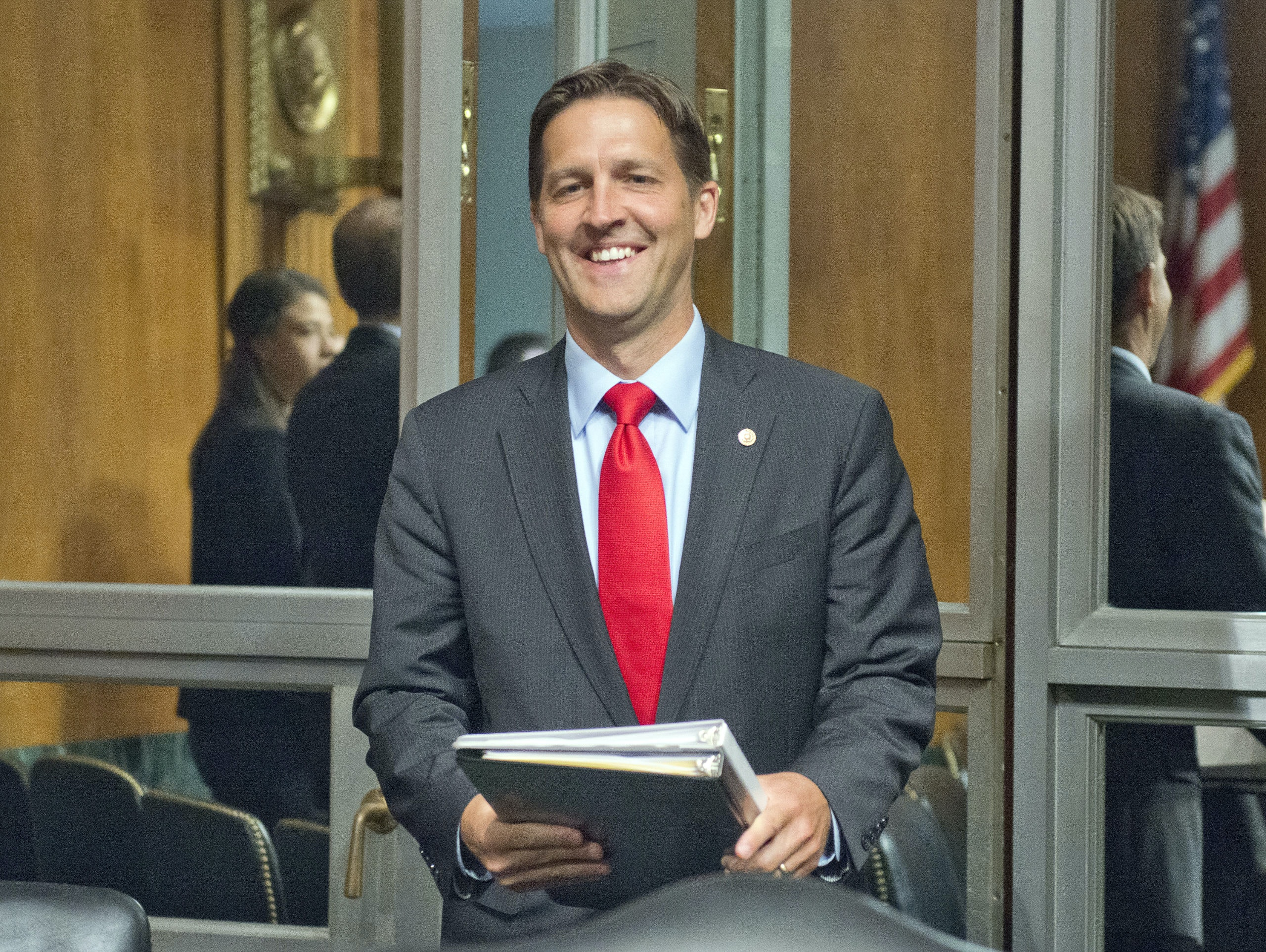 United States Senator Ben Sasse (Republican of Nebraska) arrives to listen to Christopher A. Wray testify on his nomination to be Director of the Federal Bureau of Investigation (FBI) before the US Senate Committee on the Judiciary on Capitol Hill in Washington, DC on Wednesday, July 12, 2017. Credit: Ron Sachs / CNP (RESTRICTION: NO New York or New Jersey Newspapers or newspapers within a 75 mile radius of New York City) - NO WIRE SERVICE - Photo: Ron Sachs/Consolidated/dpa Photo via Newscom