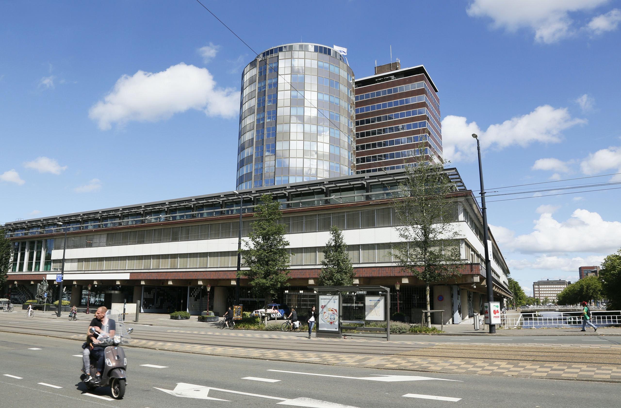 Nederland Amsterdam 2016 .  De Nederlandsche Bank bij het Westeinde. Foto Berlinda van Dam / Hollandse Hoogte