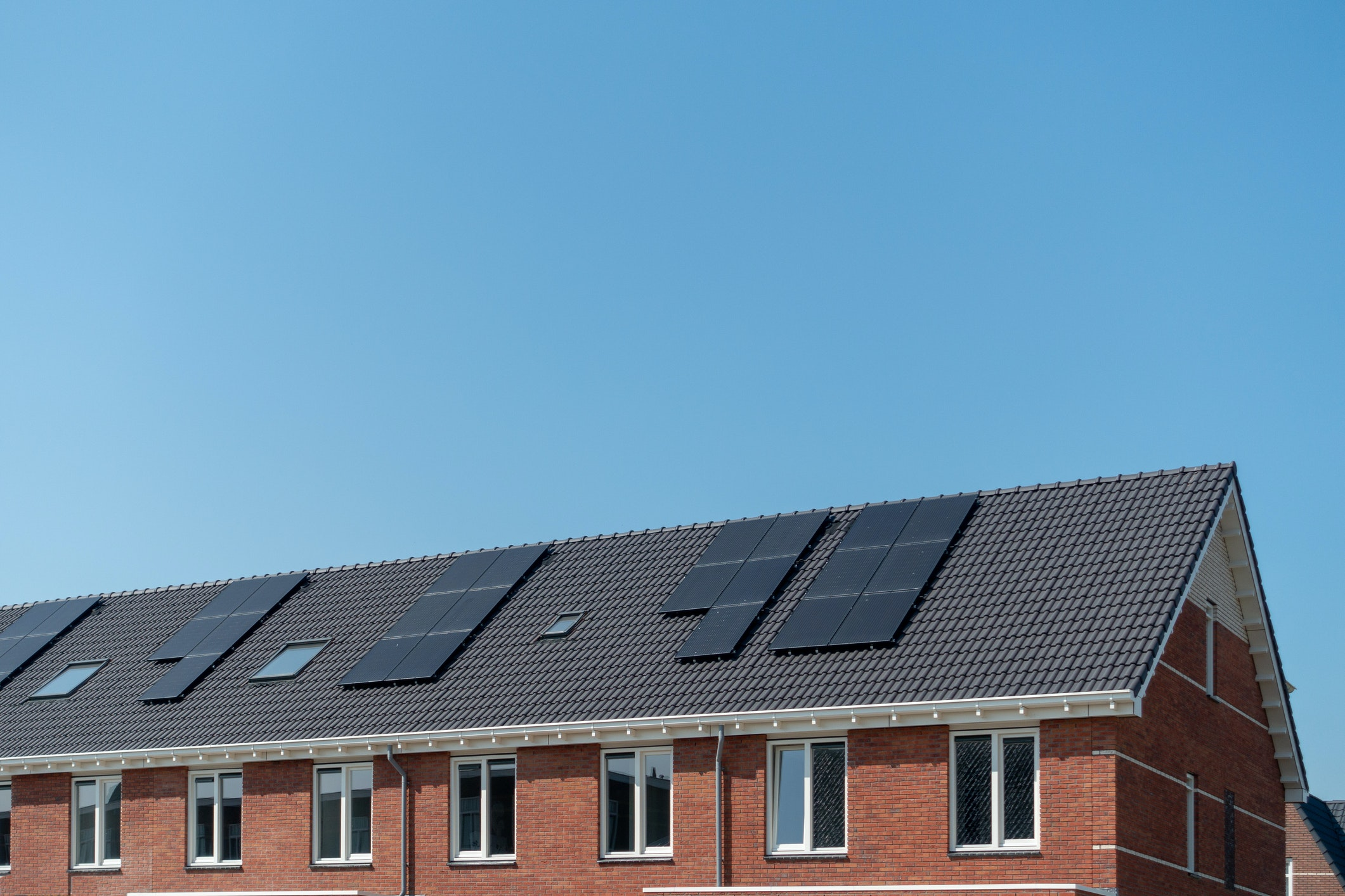 New housing With solar panels allready on the roof