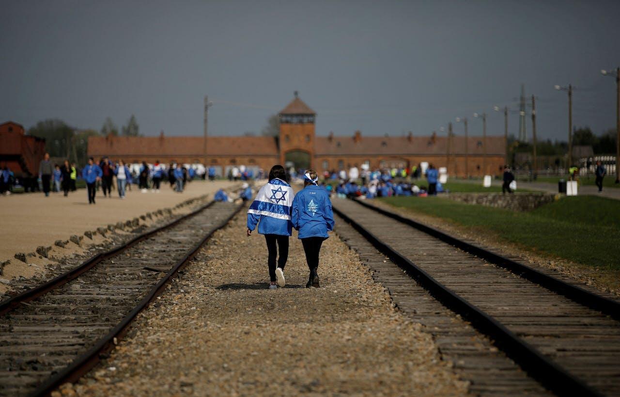 Het vernietigingskamp Auschwitz.