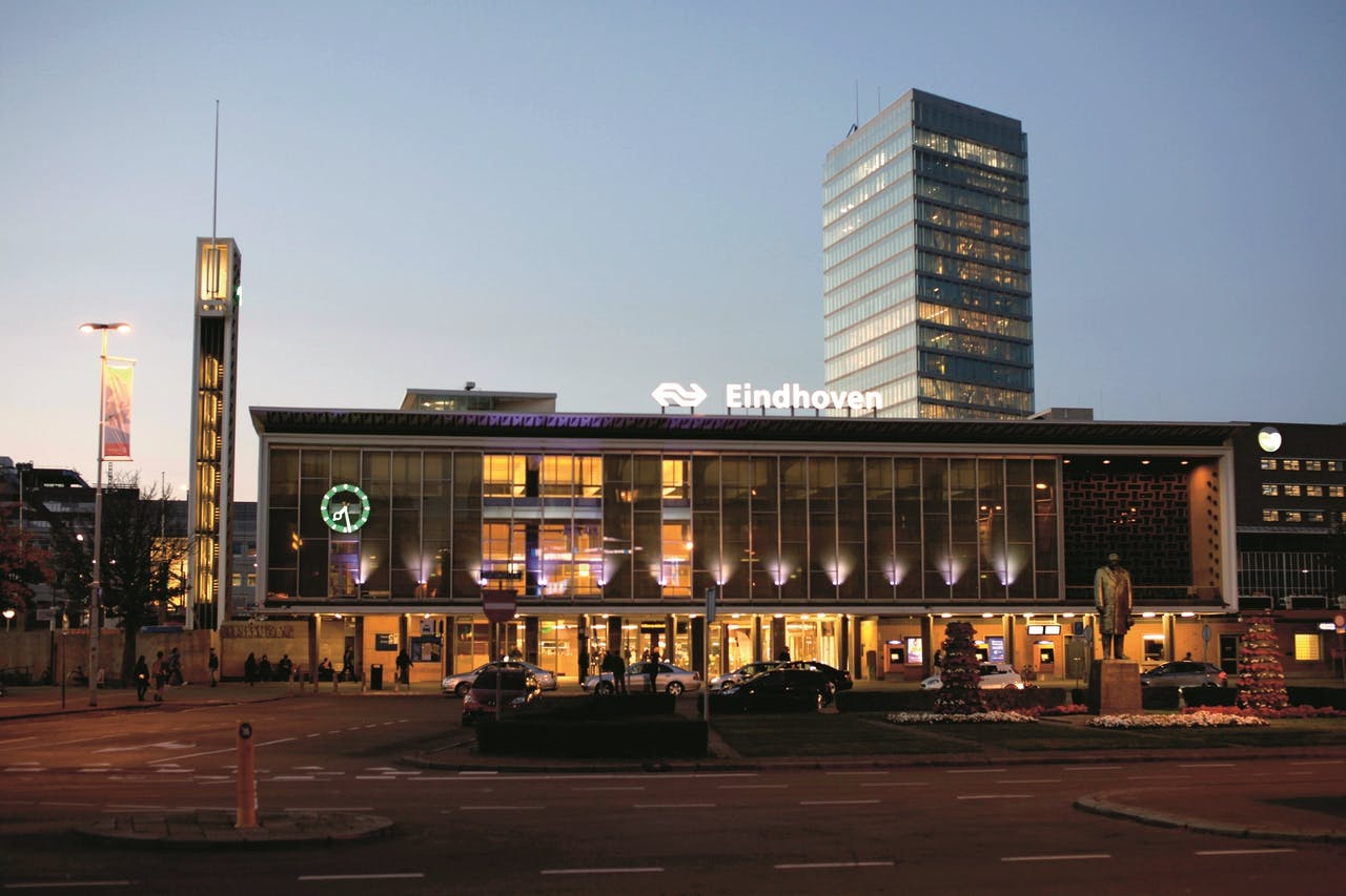 Het centraal station van Eindhoven.