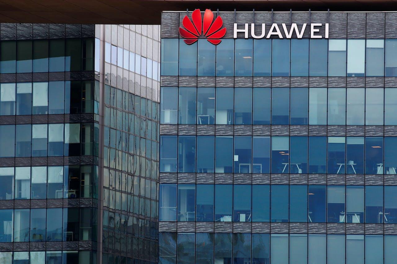 Het hoofdkantoor van Huawei Frankrijk, in Boulogne-Billancourt bij Parijs.