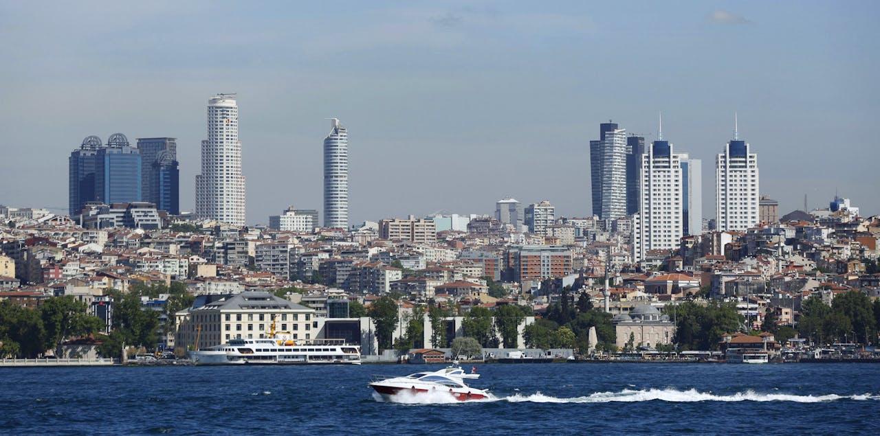 De financiële wijk van Istanboel.