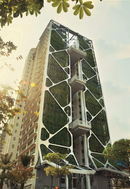 Voor even was Tree House de grootste verticale tuin ter wereld derhoud aan de verticale
