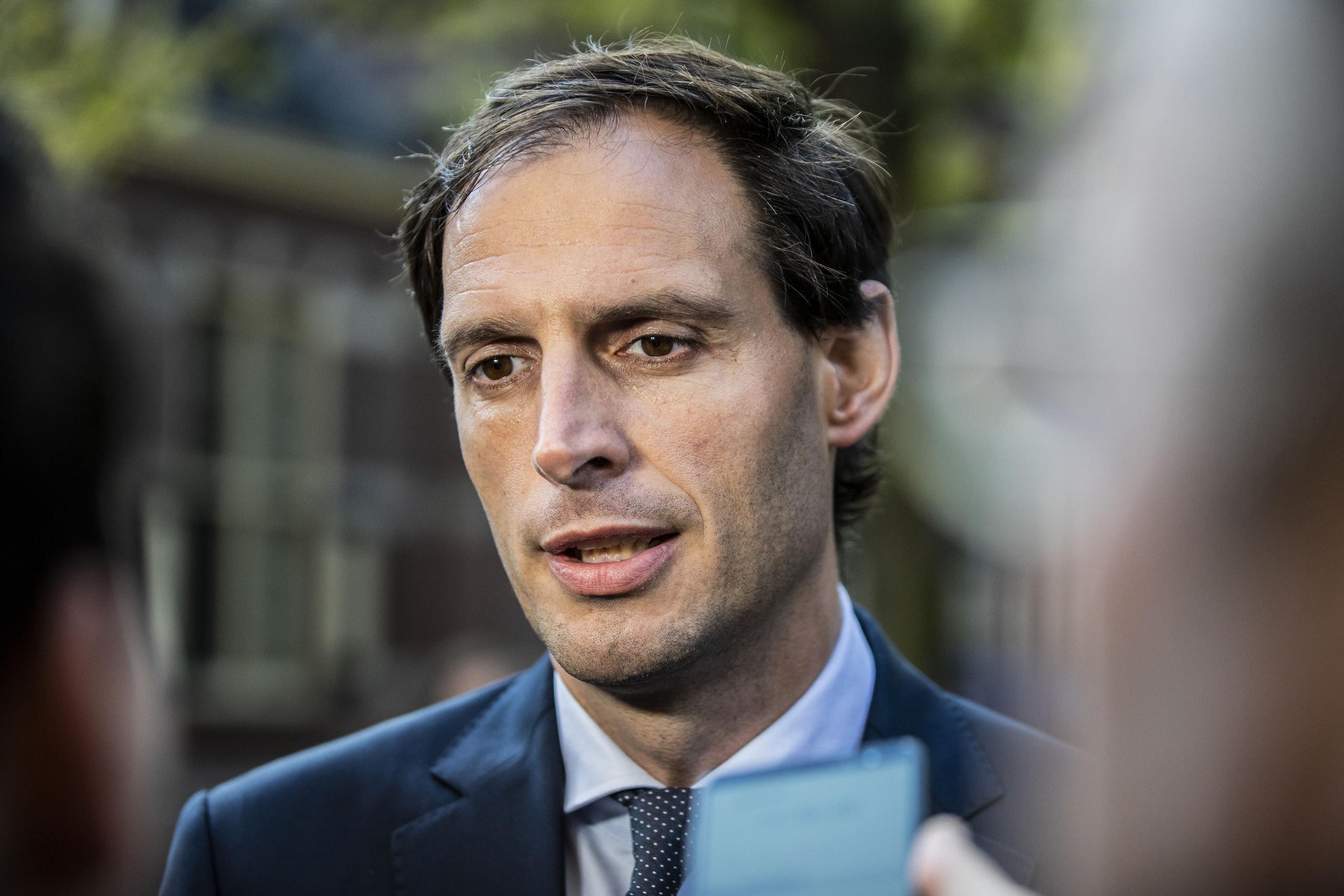 DEN HAAG  - Wopke Hoekstra minister van Financiën staat de pers te woord voor aanvang van de wekelijkse ministerraad.COPYRIGHT HOLLANDSE HOOGTE /LAURENS VAN PUTTEN