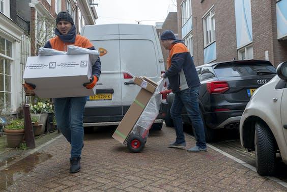 Pakketbezorging zorgt voor minder dan 1% van de CO2-uitstoot in het wegtransport.