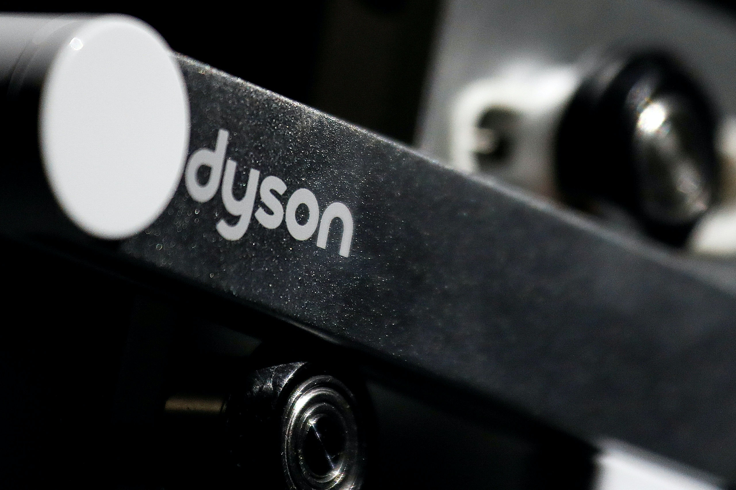 FILE PHOTO: A Dyson logo is seen on one of company's products presented during an event in Beijing, China September 12, 2018. REUTERS/Damir Sagolj/File Photo