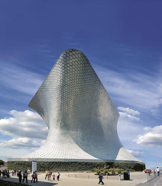 Het Soumaya-museum in Mexico-Stad.