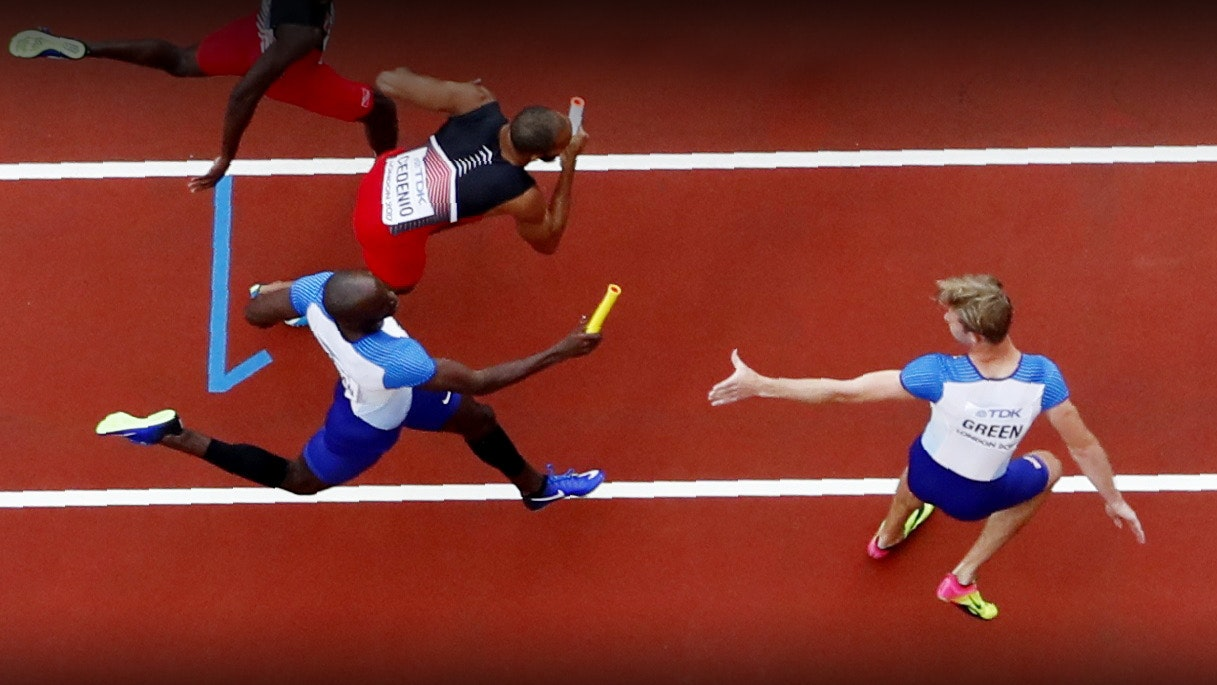 Athletics - World Athletics Championships - Men's 4x400 Metres Relay - London Stadium, London, Britain ñ August 11, 2017. General view during the race. REUTERS/Fabrizio Bensch - UP1ED8C0V1Y9N
