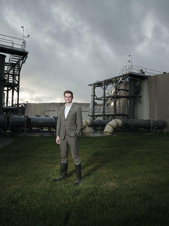 Constantijn Jansen op de Haar: 'Het potentieel van warmte-uit-water is gigantisch.'