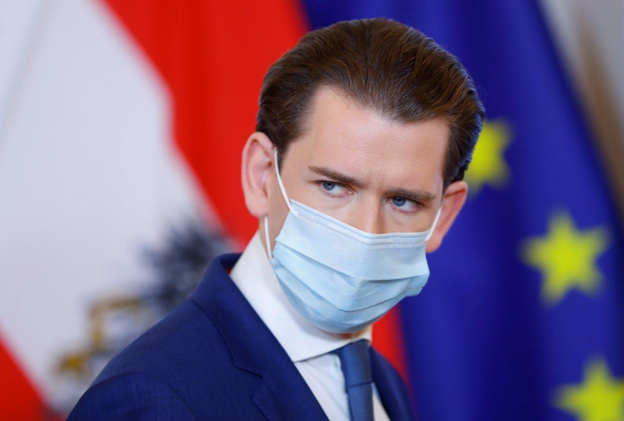 De Oostenrijkse kanselier Sebastian Kurz.