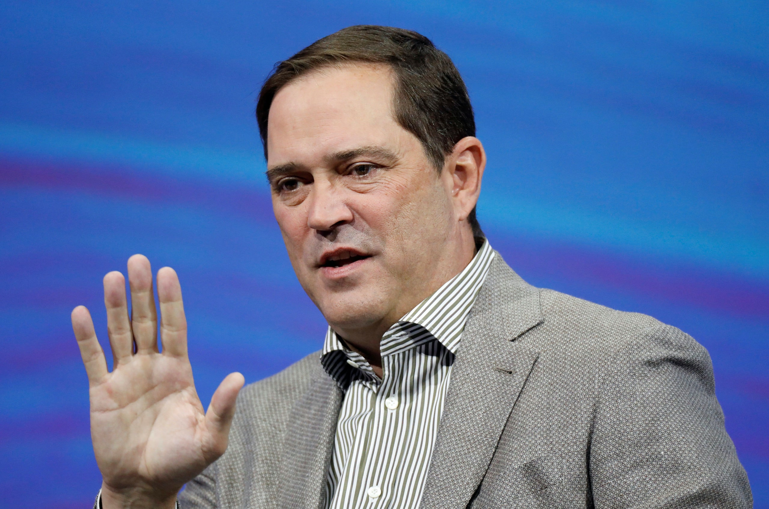 Chairman and CEO of Cisco Chuck Robbins attends the Viva Tech start-up and technology summit in Paris, France, May 24, 2018. REUTERS/Charles Platiau
