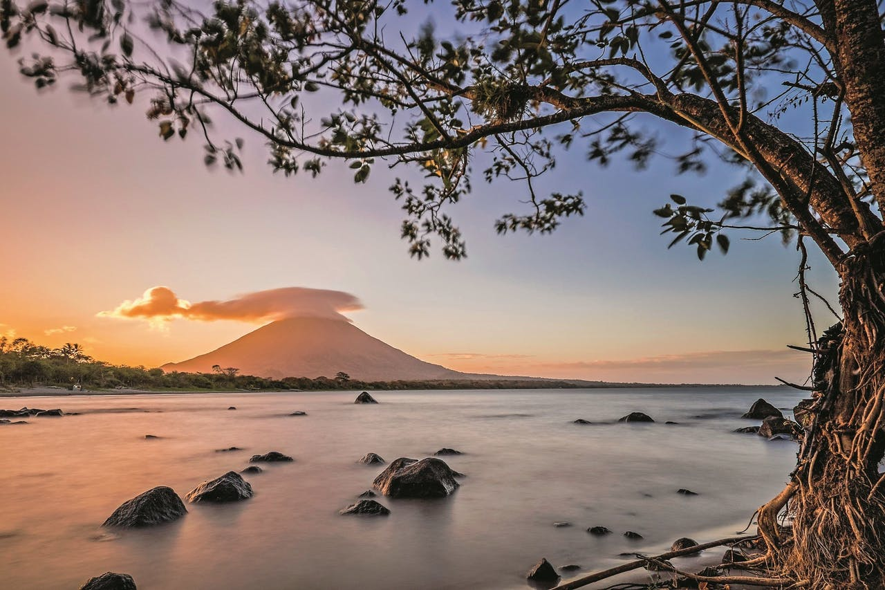 Uitzicht op Ometepe.