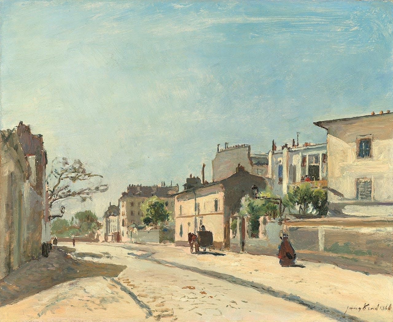 'Rue Nôtre-Dame, Parijs', Johan Barthold Jongkind, 1866.