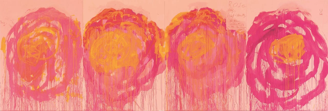 Deel van de zesdelige serie 'Untitled, (Roses)' uit 2008, in de collectie van Museum Brandhorst.