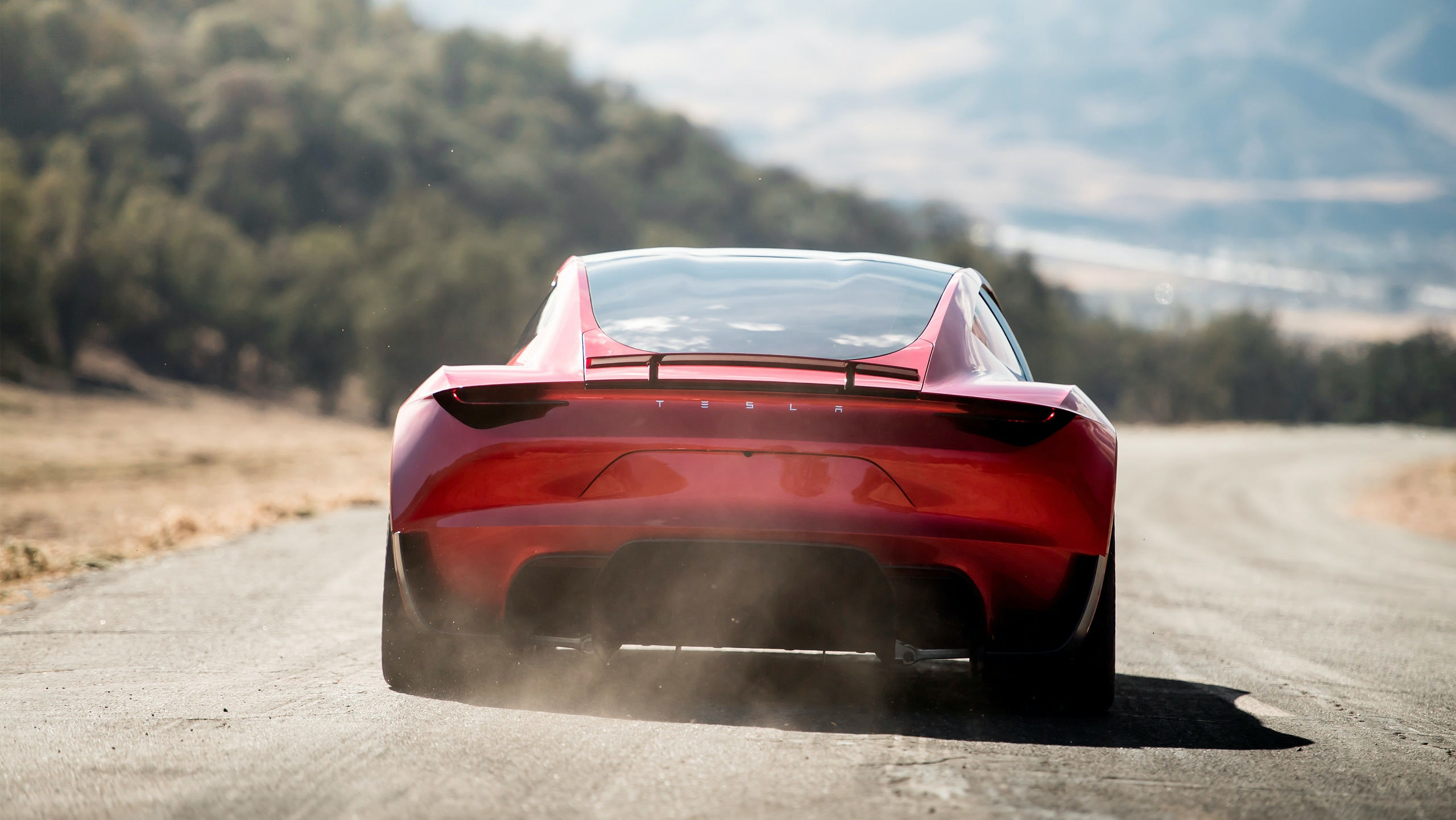Tesla Roadster 2 is shown in this undated handout photo, during a presentation in Hawthorne, California, U.S., November 16, 2017. Tesla/Handout via REUTERS     ATTENTION EDITORS - THIS IMAGE WAS PROVIDED BY A THIRD PARTY. NO RESALES. NO ARCHIVES.