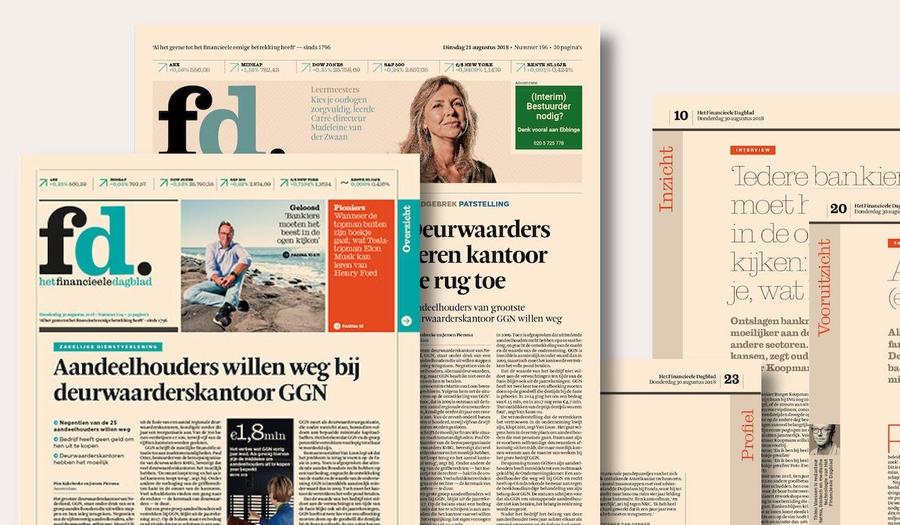 Het oude en nieuwe handzame formaat van het fd waarin meer verdiepende verhalen: Inzicht, Vooruitzicht en Profiel.