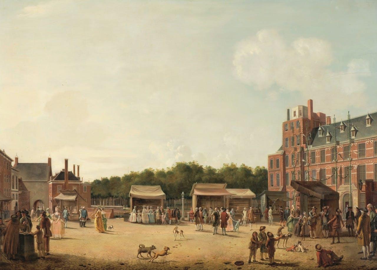 Het Buitenhof tijdens de Haagse kermis, Hendrik Pothoven, 1781