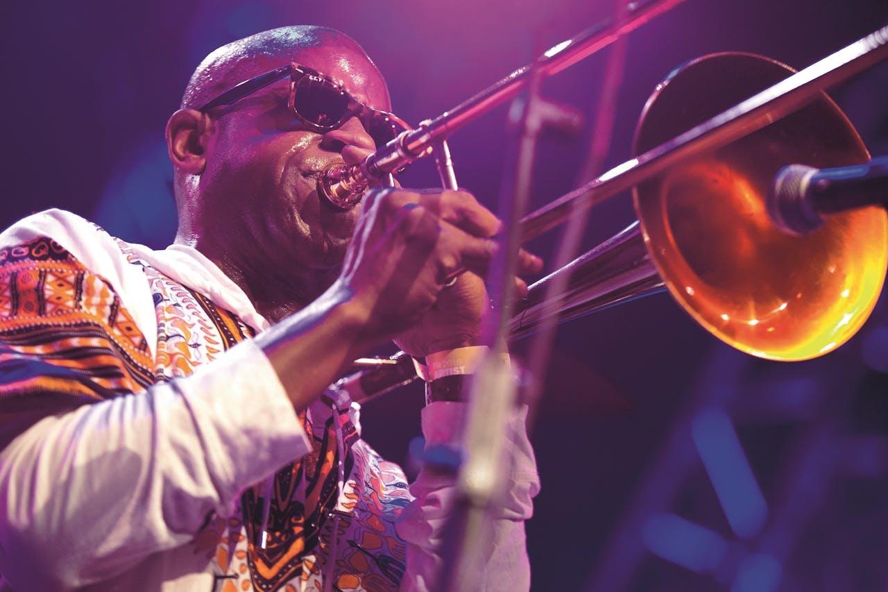 Kamasi Washington op North Sea Jazz Festival in Ahoy Rotterdam.