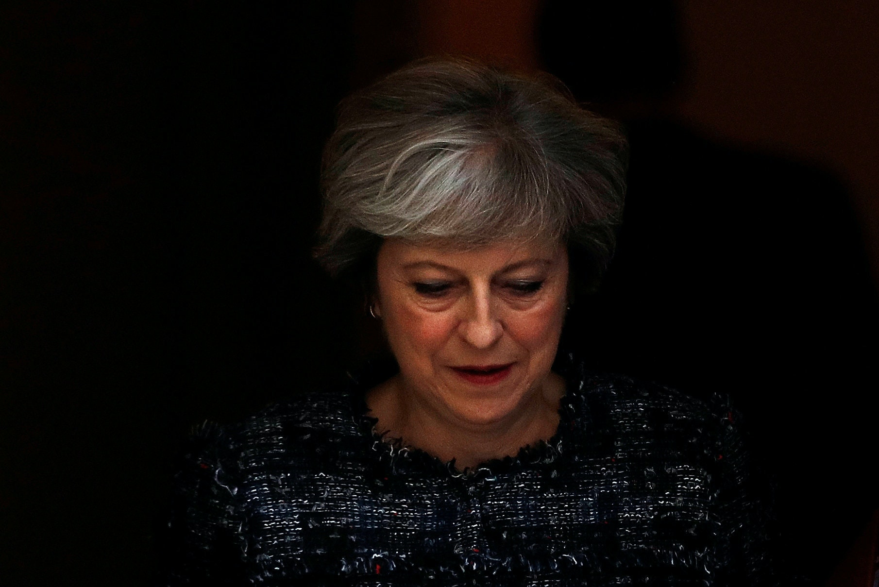Britain's Prime Minister Theresa May leaves 10 Downing Street to attend Prime Minister's Questions, in London, September 13, 2017. REUTERS/Peter Nicholls