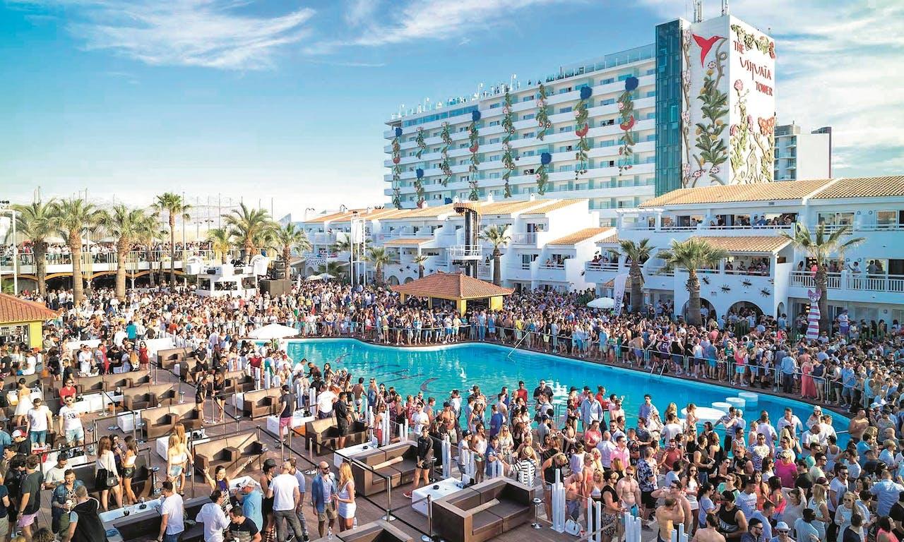 Open Air Club Ushuaia op Ibiza.