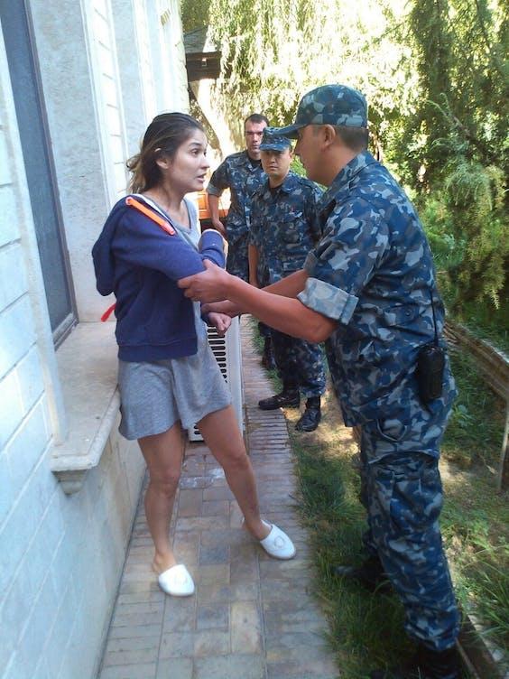 Een van de weinige foto's die er van Gulnara Karimova opdoken, in 2014, sinds ze onder huisarrest werd geplaatst in Oezbekistan.