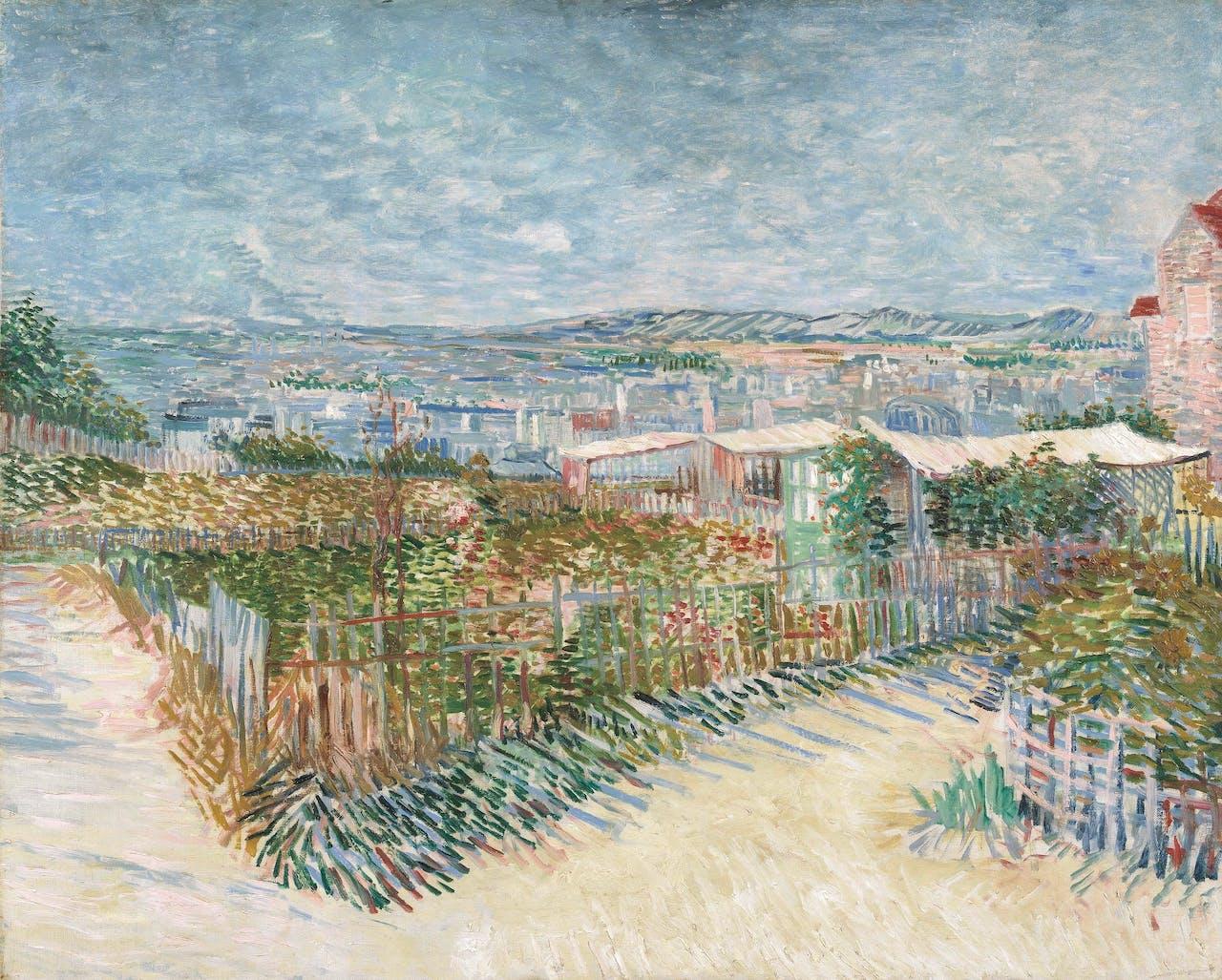 'Montmartre: achter de Moulin de la Galette', Vincent van Gogh, 1887.