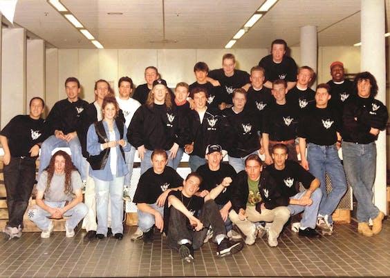ID&T-crew in 1992.