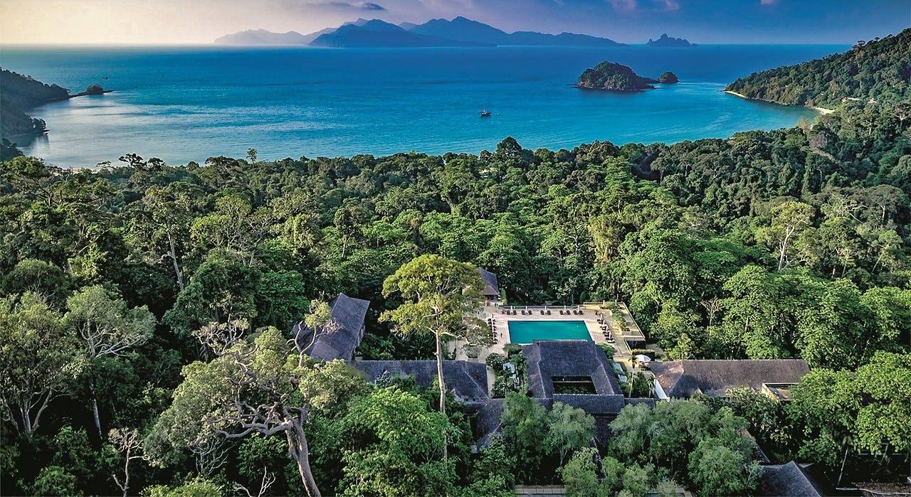 The Datai Langkawi-resort in Maleisië.