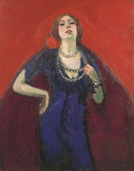 'De blauwe japon', Kees van Dongen, 1911.