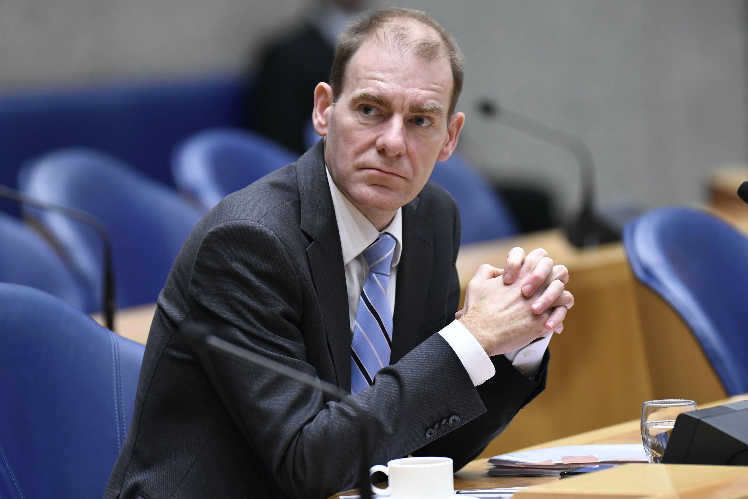 Nederland, Den Haag, 21 nov. 2017,     Menno Snel Staatssecretaris van financien ( D66) tijdens debat belastingplan 2018 in de Tweede Kamer politiek  foto; Peter Hilz / HH