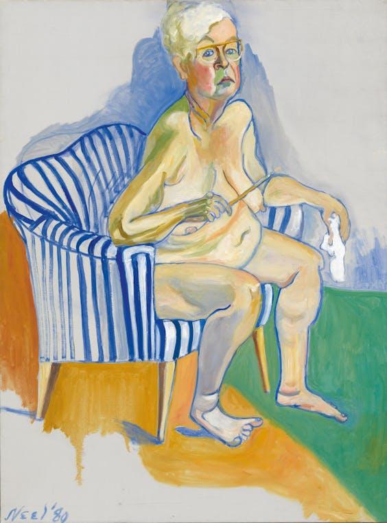 Alice Neel. 'Zelfportret', 1980
