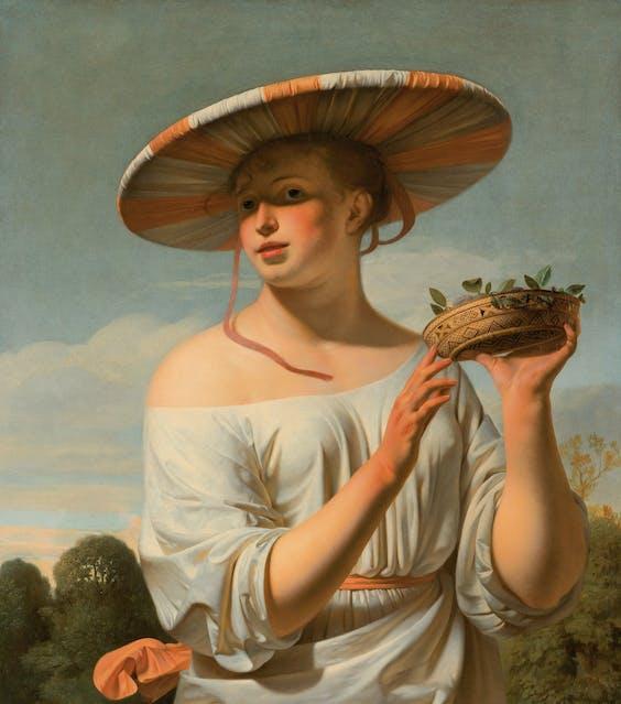 'Meisje met brede hoed'