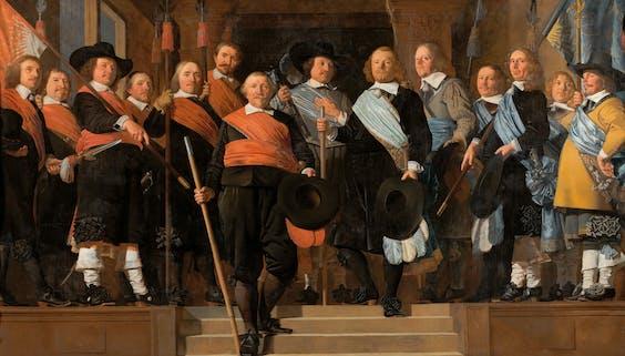 'Officieren en vaandeldragers van de Oude Schutterij van Alkmaar', 1657