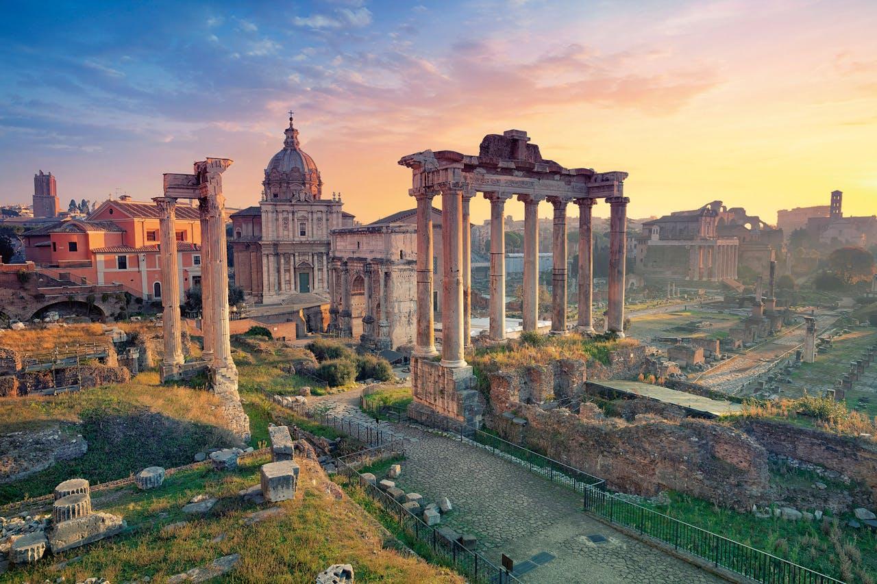 Het Forum Romanum, in Rome.