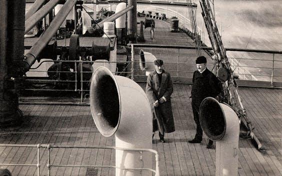 De 8ste generatie Nolet, eind 19de eeuw op reis naar Baltimore (VS) om nieuwe markten te verkennen;.