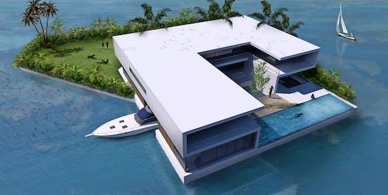 Een privé-eiland in het project Amillarah in Miami (Amillarah betekent privé-eiland in de lokale Maledivische taal, en is nu de 'brand name' voor dit type producten). Het project in Miami wordt in 2016 opgeleverd.