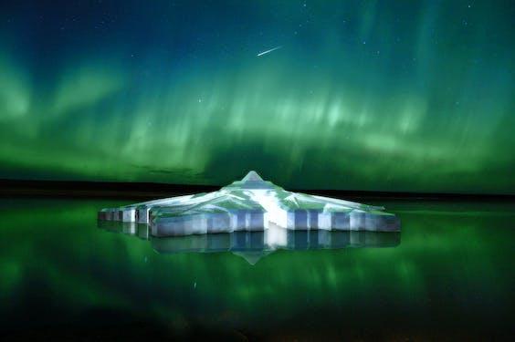 The floating snowflake: 5 sterren Hotel in Tromso Noorwegen, gereed eind 2016