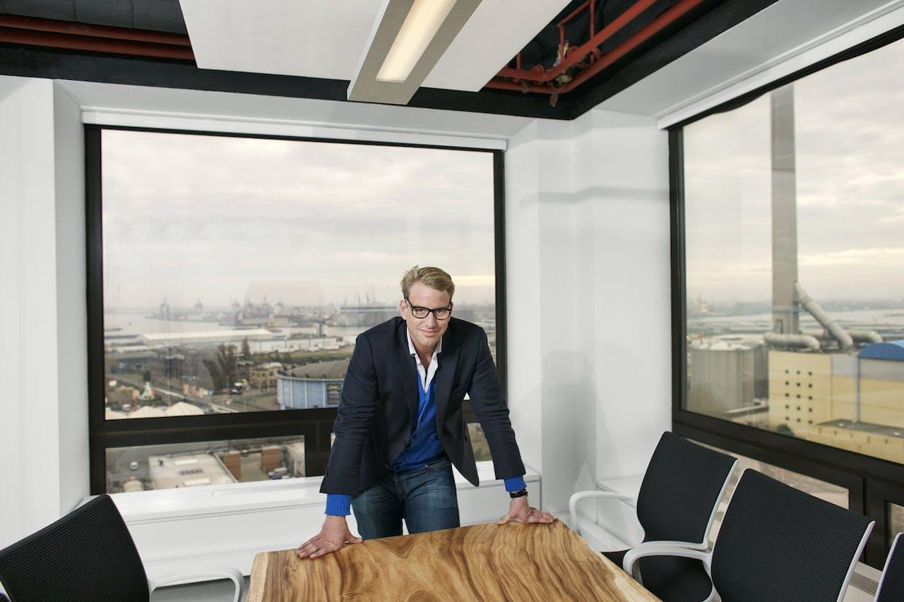 Directeur Korstiaan Zandvliet van Symbid in Rotterdam.