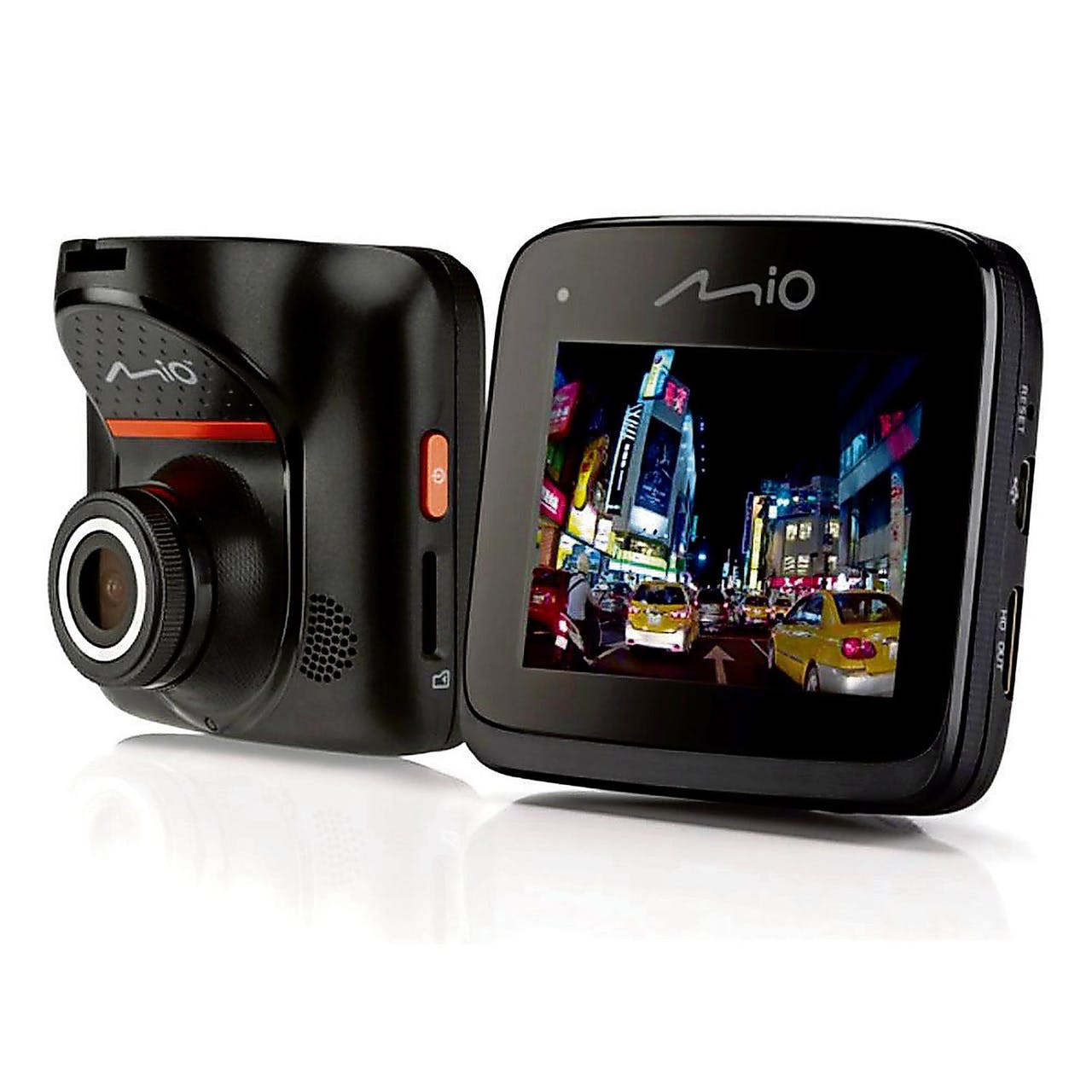 De dashboardcamera van Mio legt asociale medebestuurders vast.