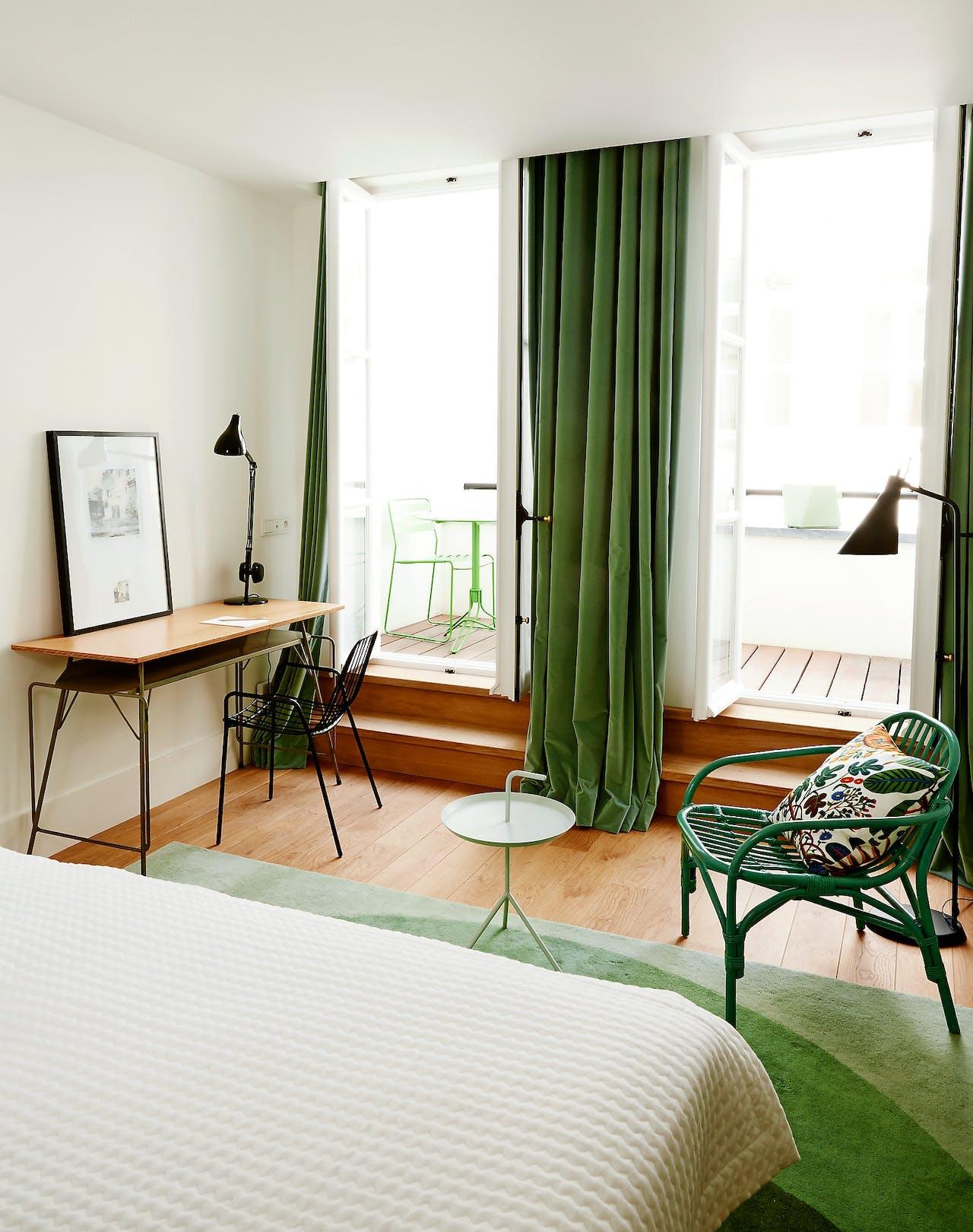 De kamers van Hôtel des Galeries geven een vertrouwd gevoel.