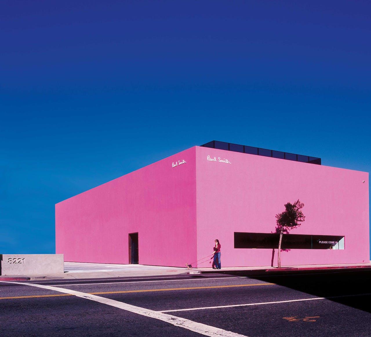De winkel van Paul Smith aan Melrose Avenue in Los Angeles is geïnspireerd op het werk van de Mexicaan Luis Barragán.