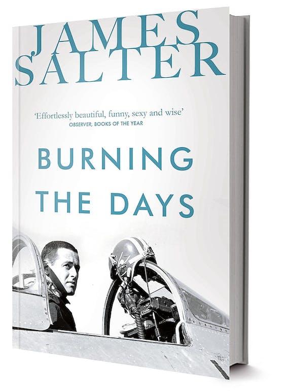 In zijn autobiografie Burning the days (1997) kijkt Salter terug op zijn bestaan als gevechtspiloot, emigrant in Europa en filmscenarioschrijver.
