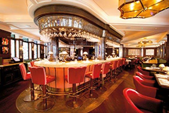 Restaurant The Ivy in Londen.