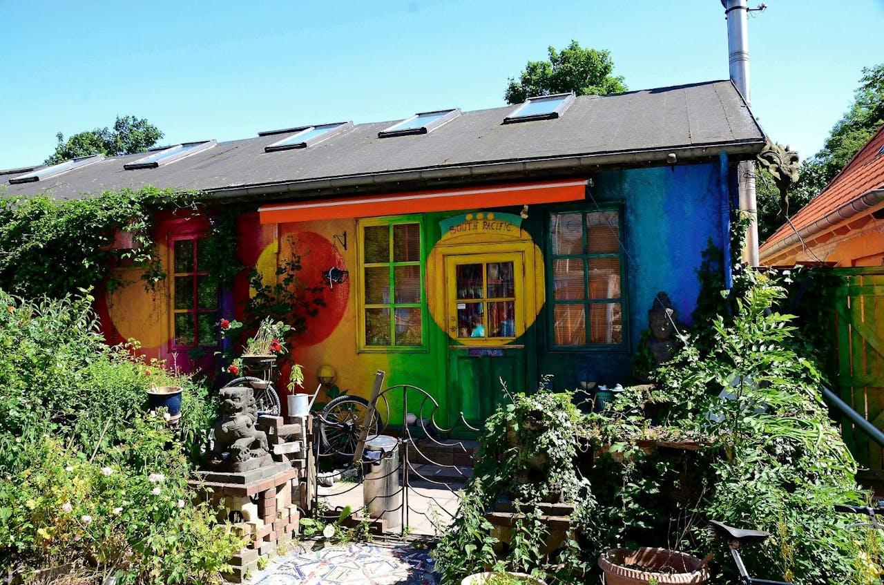 Kunstenaarsenclave Christiania in Kopenhagen.