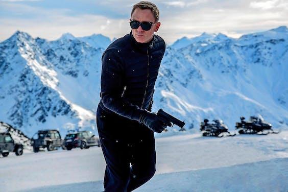 Still uit de Bond-film 'Spectre', met Daniel Craig als James Bond.